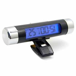 EastVita Car Air Vent Clip / Stick On Electronic Clock + The