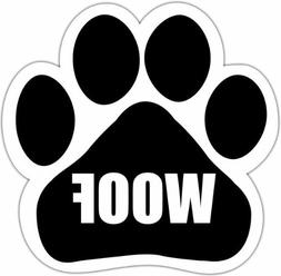 """""""Woof"""" Car Magnet With Unique Paw Shaped Design Measures 5.2"""