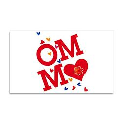 Car Magnet 20 x 12 Inch Mom with Hearts I Love My Mother
