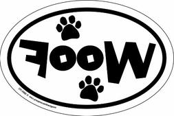Imagine This 4-Inch by 6-Inch Car Magnet Oval, Woof Paws