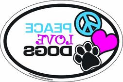 Imagine This 4-Inch by 6-Inch Car Magnet Oval, Peace Love Do