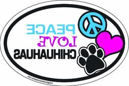 Imagine This 4-Inch by 6-Inch Car Magnet Oval, Peace Love Ch