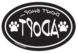 "Car Magnet-Paw-Who Rescued Who- 5.5"" x 5.5"""