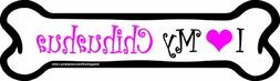 Imagine This 7-Inch by 2-1/4-Inch Car Magnet Pink Bone, I Lo