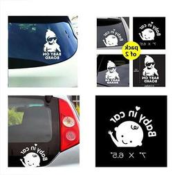 Baby in Car Sticker Decals Safety Signs Baby on Board for Ca