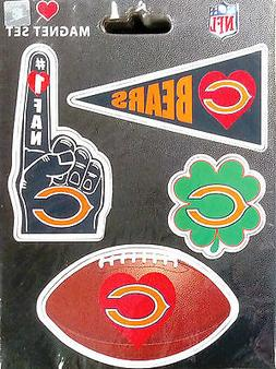 Chicago Bears 4-Pack Team Magnet Sheet Auto Home Heavy Duty