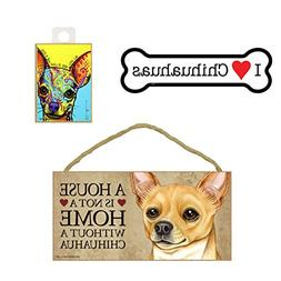 Chihuahua Dog Lover Gift Bundle - Wall Sign A House is Not a