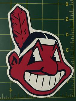 Cleveland Indians Chief Wahoo 6 Inch Car Magnet