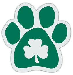Clover Dog Paw Car Magnets - Irish Green - Great Design For