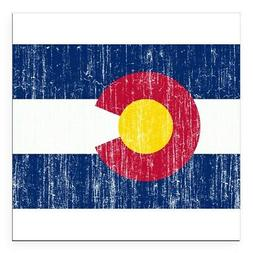 CafePress Colorado Flag Square Car Magnet 3 X 3 Bumper Stick