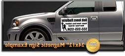"""24x12"""" Custom Magnetic Signs- Set of 2 High Quality 2 Color"""