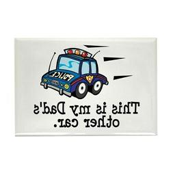 "CafePress Dad's Police Car Magnet 2"" x 3"""