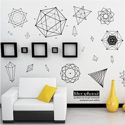 Rumas DIY Geometry Wall Stickers for Family, Removable Oilpr