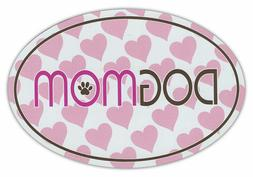 DOG MOM w/Hearts Car Magnet for car bumpers, refrigerators,