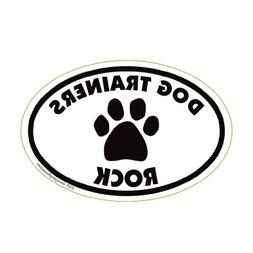 Dog Trainers Rock Oval Magnet