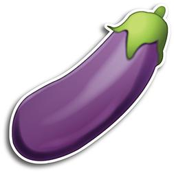 Eggplant Emoji Magnet Decal Perfect for Car or Truck
