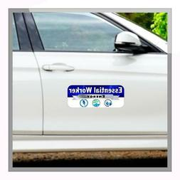 "Essential Worker Energy Car Magnet 15"" x 6"""