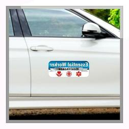 "Essential Worker Healthcare Car Magnet 15"" x 6"""