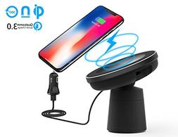 Magnetic Wireless Car Charger,WYNK Fast Charging Compatible