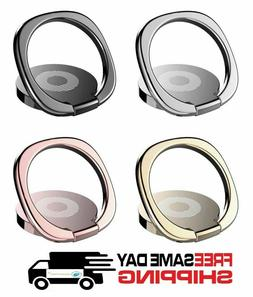 Finger Ring Cell Phone Holder Stand Car Metal Plate Rotating