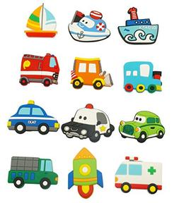Fridge Magnets for Toddlers Cute Car Vehicle Cartoon Cars Fu
