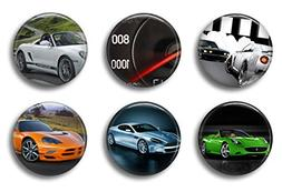 Fun Locker Magnets For Boys - Super Sports Cars - School Sup