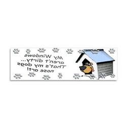 CafePress Funny Dog Nose Art Car Magnet