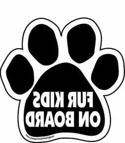 Imagine This Fur Kids on Board Paw Car Magnet, 5-1/2-Inch by