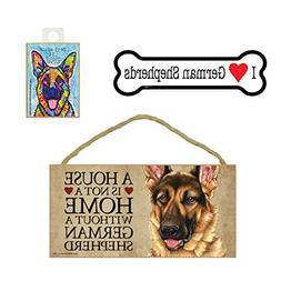 German Shepherd Dog Gift Bundle - Wall Sign A House is Not a