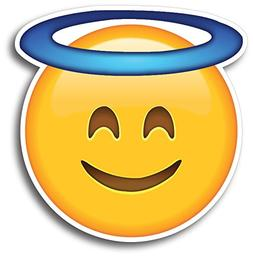 Halo Angel Emoji Magnet Decal Perfect for Car or Truck