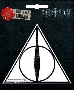 Ata-Boy Harry Potter Die-Cut Deathly Hallows Magnet for Cars