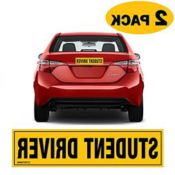 """12""""x3"""" Highly Reflective Magnet Car Safety Caution Sign for"""