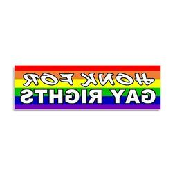 CafePress Honk For Gay Rights Car Magnet