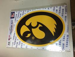 "IOWA HAWKEYES Official NCAA 14"" X 10""  Car Magnet by Wincraf"
