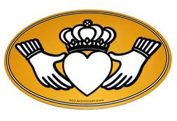 Irish Claddagh Oval Fridge or Car Magnet