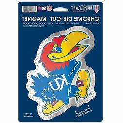 Kansas Jayhawks Official NCAA Chrome Die Cut Car Magnet by W
