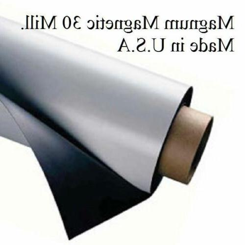 1 ROLLS x 2 FEET Mil. Blank Magnetic Sign Sheet Cars Magnum