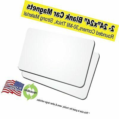 """2 Pack 24""""x24"""" Blank Over-Sized Car Magnets"""