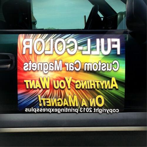 2 - 18x24 Custom Car Magnets Magnetic Auto Truck Signs - Fre