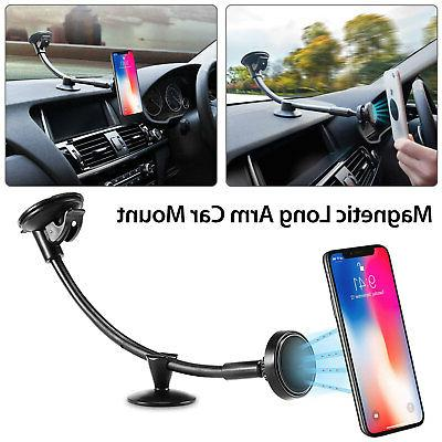 360° Magnetic Long Arm Car Dashboard Windshield Suction on