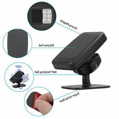 360° Magnetic Car Cell Holder Stand For iPhone GPS US