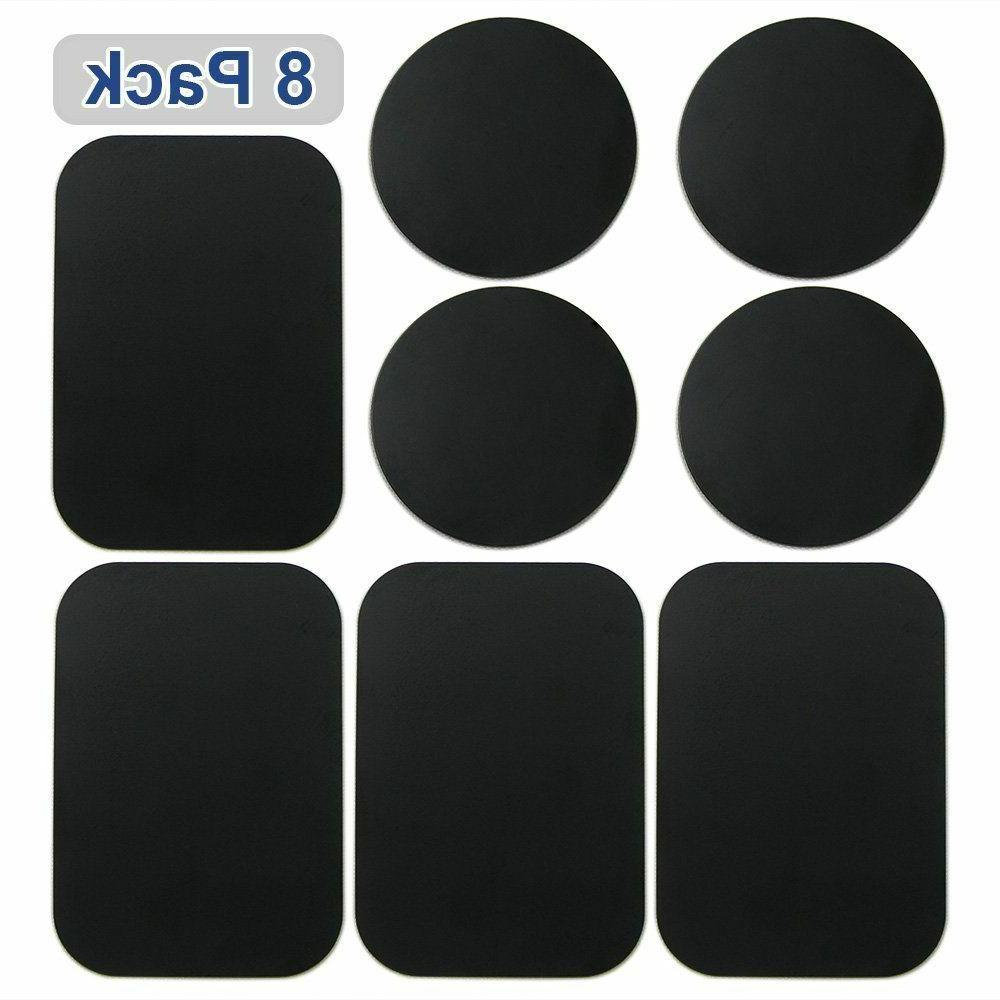 8 Pack Metal Plates Sticker Replace For Car Mount Magnet Holder