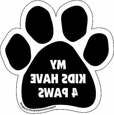 """Car Magnet- Paw-My Kids Have 4 Paws- 5.5"""" x 5.5"""""""