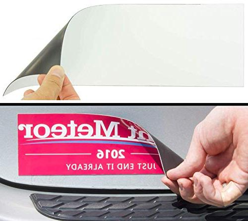 Cut-to-Size Bumper Sticker Magnetizer 4 Pack: Turn Any Decal