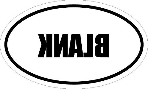 """Magnet 6"""" Printed Euro Oval Style Decal Oval Blank Magnet Au"""