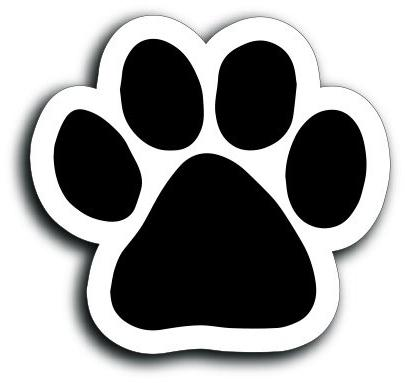 Magnet Me Up Blank Black Pawprint Car Magnet Paw Print Auto