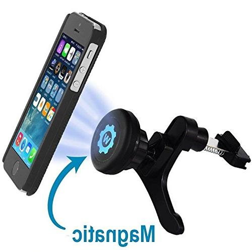 WizGear Car Air Mount with Swift-Snap Technology for iPhone 6 Plus, iPhone 5S S5