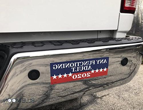"""2 PACK! Functioning Adult 2020 Sticker 3"""" x 9"""" Car Truck Political In"""