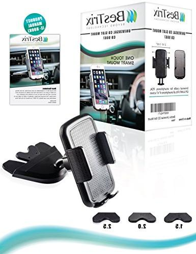 """Bestrix CD Slot Smartphone Car for 6S Plus 5, 4, Galaxy S3 S5 S6 Note 5 LG G5 G6 up 6"""""""