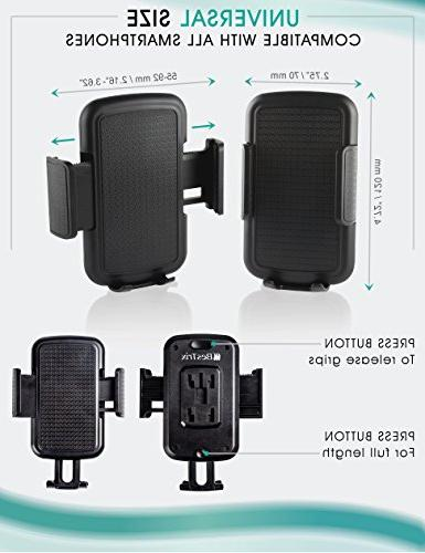 """Bestrix Universal Smartphone Car for iPhone 6S 5, 4, Samsung Galaxy S6 S7 S8 Note 4 5 LG G5 up 6"""""""